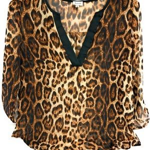 🛍B_envied Ladies Small Leopard Print Blouse